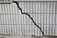 Building Inspection finds crack in wall