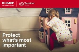 Termite barrier with Termidor