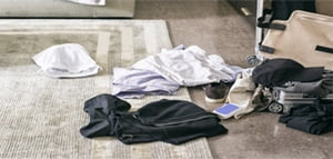 clothes on floor will attract bed bugs